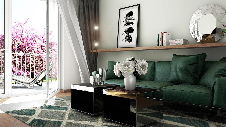 3D vizualizace interiéru bytu