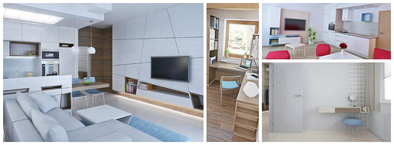 Návrhy interiérů bytů