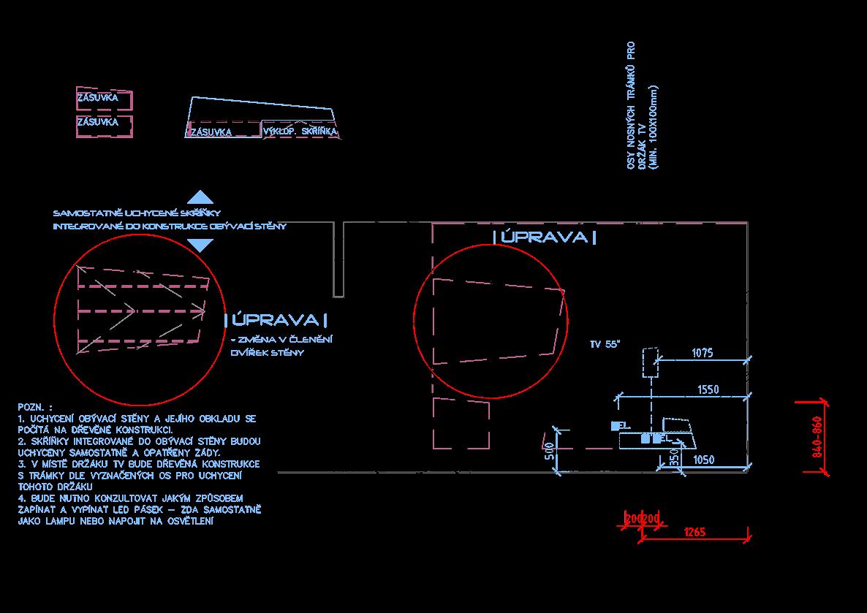 Postup práce na návrhu bytu