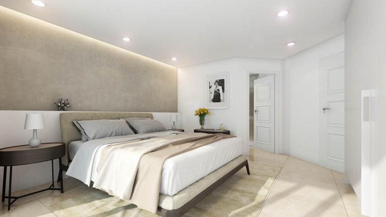 Stella borgo - vizualizace interiéru ložnice