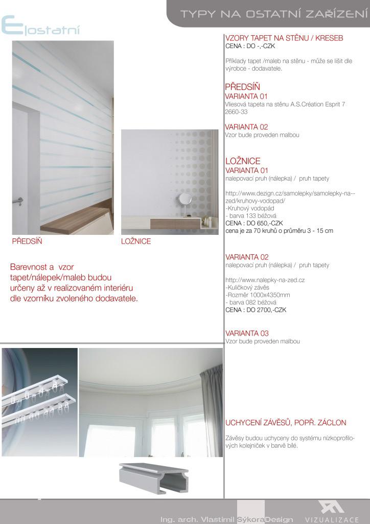 tipy na zařízení bytu - vzory a barvy
