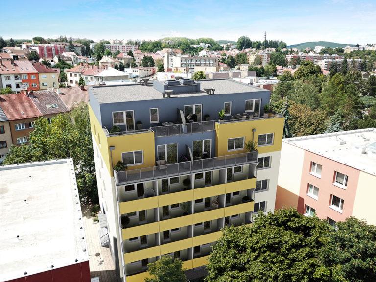 3D vizualizace do fotografie z dronu - Brno