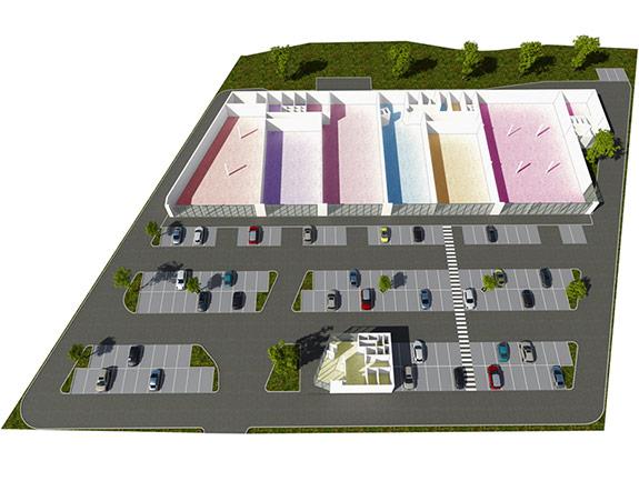 3D půdorysy obchodních center