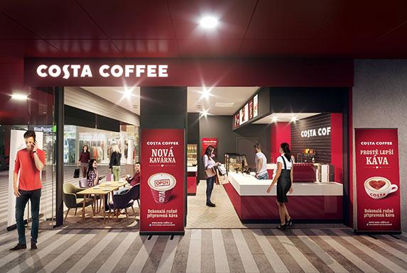 Vizualizace kavárny